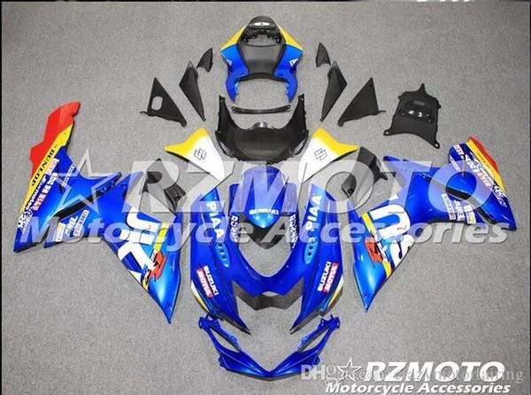 3 gifts New SUZUKI GSXR600 750 2011 2012 2013 GSXR 600 GSXR 750 11 12 13 ABS Injection mold Blue White Red s4
