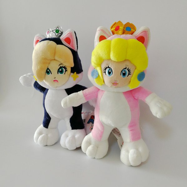 Wholesale New Daisy Rosalina Princess Cat Super Mario Bros Soft Toy Plush Doll Collection For Kids Holiday Best Gift 8inc 20cm