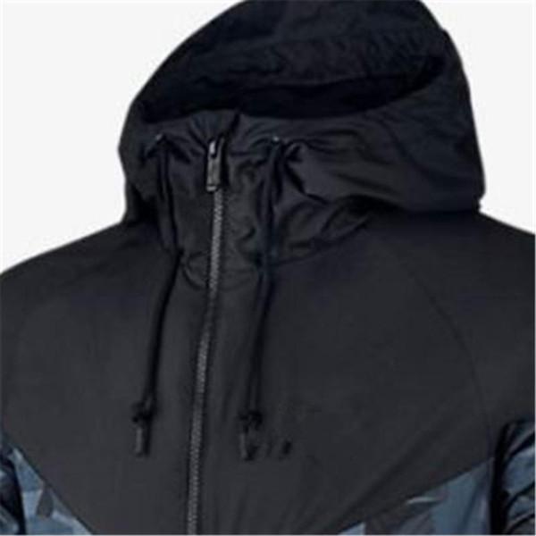 Inverno Felpe con cappuccio degli uomini rivestimenti del cappotto Plus Size camuffamento antivento manica lunga di lusso del progettista di marca con cappuccio Zipper Abbigliamento Uomo