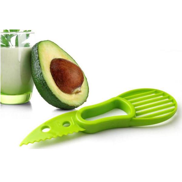 3-en-1 Herramientas de aguacate máquina de cortar cortador de la fruta Cuchillo corer Pulp separador de manteca de karité cuchillo de cocina Ayudante de cocina Accesorios Gadgets