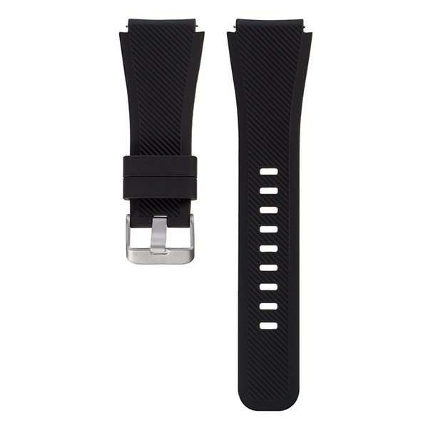 Bemorcabo 22mm Silicone Watch Band for Samsung Gear S3 Classic/Frontier Bracelet Rubber Watch Wrist Strap for Pebble Smart