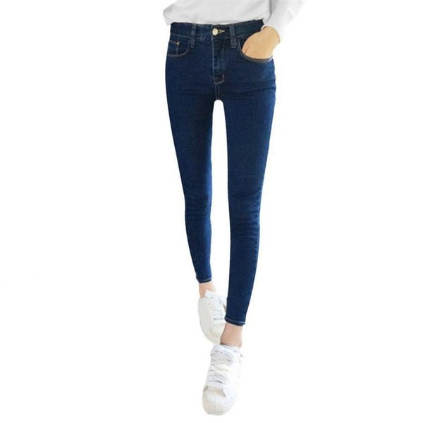 Skinny Jeans Woman Spring New 2019 High Quality Women Fashion Slim Jeans Female Washed Casual Skinny Stretch Pencil Denim Pants