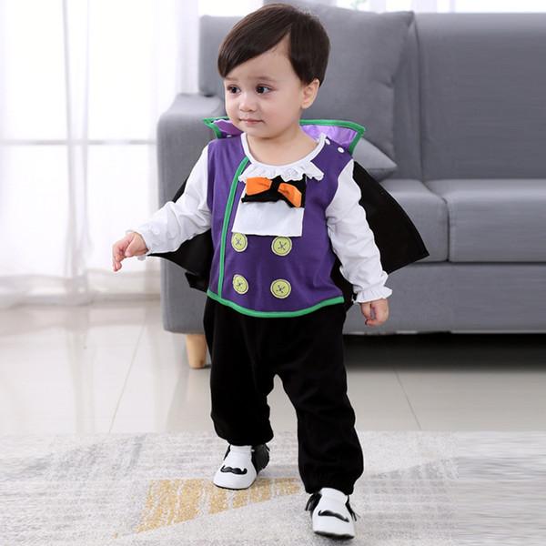 2019 Хэллоуин Косплей костюмы Новорожденных хлопок Детская одежда Romper Дети Детские мальчиков с длинным рукавом комбинезона малышей для новорожденных девочек Одежда