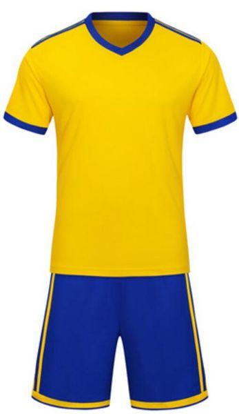 2019 neue mode heißen männer sportbekleidung anzug jacke gelb hose blau t-shirt fußball kleidung