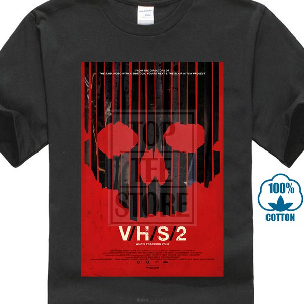 Vhs 2 Cool Horror Movie Poster Fan T Shirt New Fashion Mens Short Sleeve Simple Cotton T Shirts Novelty T Shirt Funny Printed T Shirts From
