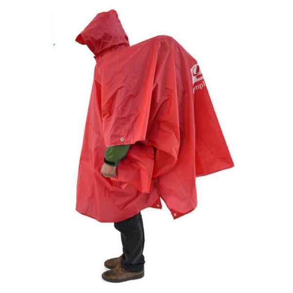 3in1 Multifunction Jacket Camping & Hiking Waterproof Poncho Nylon Travel Awning Mat Outdoor Raincoat Windbreaker