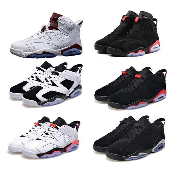 Новые 6 6s мужчины женщины баскетбол обувь UNC черная кошка заяц кармин белый инфракрасный злой бык мода роскошные мужские женские дизайнерские сандалии обувь