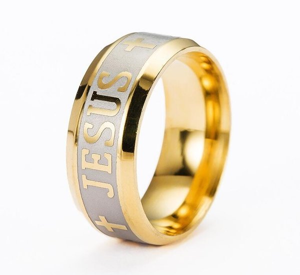 best selling Religious Christian Ring Stainless Steel Russian Jesus Cross Ring GOD SAVE US Amulet Ring for Men