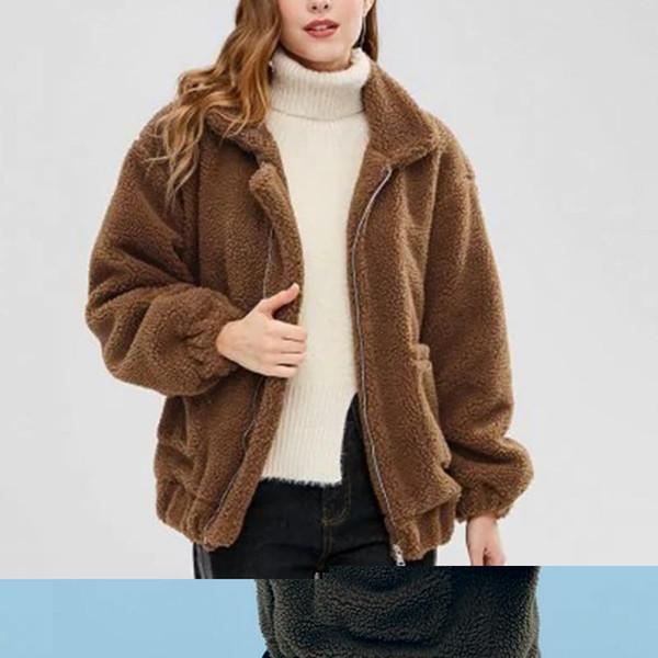 Manteaux d'hiver pour femmes Gilets pour dames Pulls chauds en polaire Manteau en fausse fourrure Manteau d'hiver