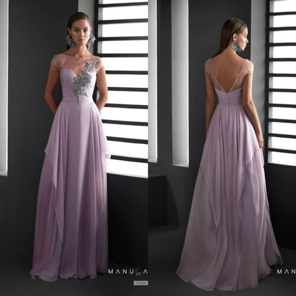 sale usa online to buy big discount Lilac Mother Of The Bride Dresses Formal Jewel Neck Lace Appliqued Chiffon  Wedding Guest Dress Mother Outfit Prom Gowns Women Wear Mother Of Groom ...
