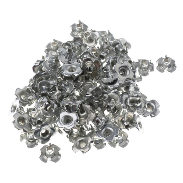 top popular 100x Climbing Nut Replacement Corrosion Resistant Climbing Hold Screw Silver 2021