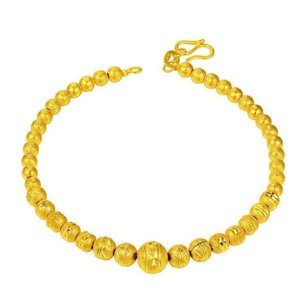 Hot Golden Buddha Peeling Perlen Armband Polnischen Kugel Perlen Armband mit Verlängerungskette Feiner Messing Schmuck Hohe Qualität