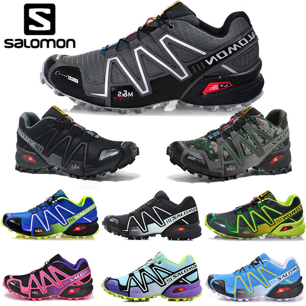 Salomon Speed Cross 3 CS Running Shoes Men Women SpeedCross Outdoor Hiking Sneakers Black White Blue Red Designer Athletic Sports Size 36 46
