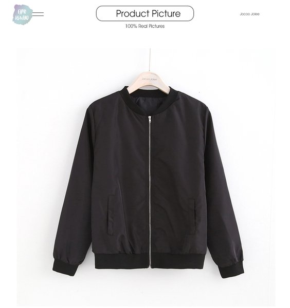 Bombacı Moda Ceketler Kadınlar Uzun Kollu Temel Coats Casual WINDBREAKER İnce Düzenli Ceket İnce Dış Giyim Kısa Drop Shipping