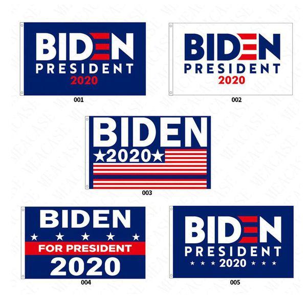 top popular 90*150CM BIDEN 2020 Hot Presidential Campaign Flag The US Election Biden Letters Garden Flags Polyester Garden Home Flags 5 Colors D62901 2021