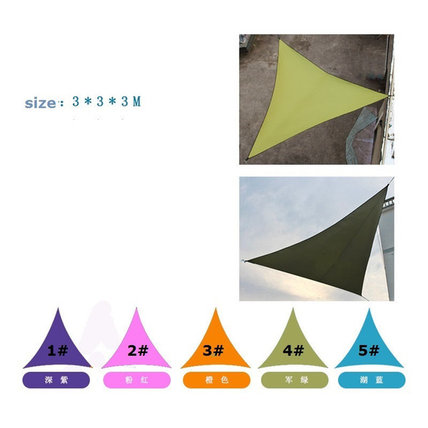 top popular Sun Shelters Waterproof Triangle Sunshade Garden Patio Pool Shade Outdoor Canopy Sail Awning Courtyard Balcony 3*3*3M ST349 2021