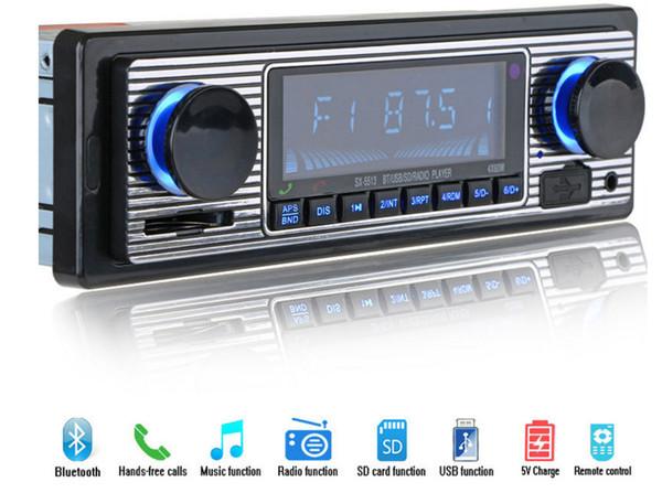 12V Auto-Radio-Player Bluetooth-Stereo-FM MP3 USB SD AUX Audio-Elektronik Autoradio 1 DIN oto teypleri Radio para carro 002