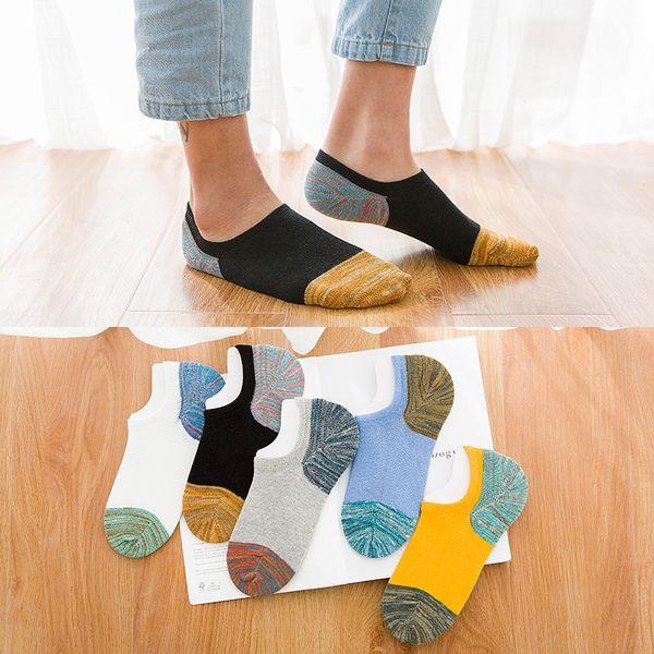 Оптовая 5 пара/Лот новые мужчины хлопчатобумажные носки высокого качества нескользящая повседневная дышащая No Show лодка носки короткие мужская мода 2WZ316