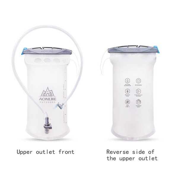 top popular 1.5L Water Bladder Riding Hydration Pack Water Camping Hiking Cycling Drinking Bag Folding Bag Outdoor Soft Reservoir 2019
