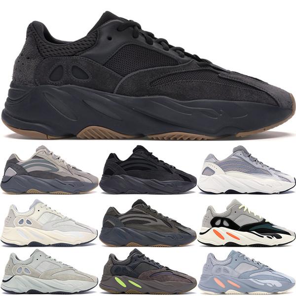 Kutu ile Adidas Yeezy 700 V2 Dalga Koşucu Geode Atalet Katı Gri Vanta Geode Statik Leylak Erkek Kadın Kanye West Koşu Ayakkabıları Tasarımcı Sneakers