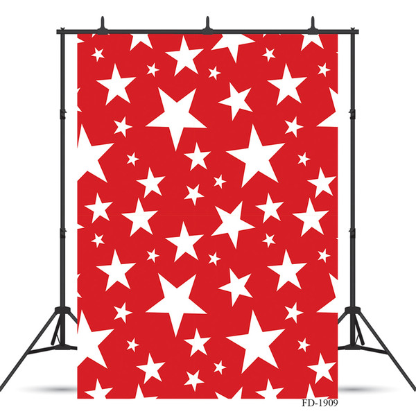 star photography backdrop red wallpaper wooden floor photo background for party children vinyl cloth backgrounds photo shoot