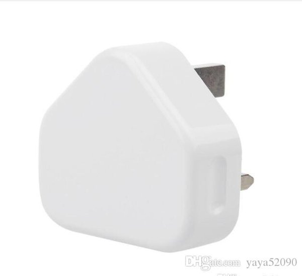 New arrival UK 3 Pin Mains Charging Adapter Plug 5V 1A UK USB Wall home travel Charger For Iphone/ Samsung Tablet Pc Universal