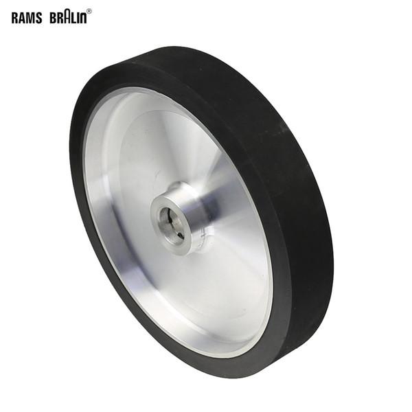 best selling 300*50mm Solid Belt Grinder Contact Wheel Dynamically Balanced Rubber Polishing Wheel Abrasive Sanding Belt Set