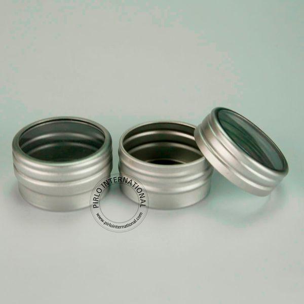 200 unids 10 g Aluminio Tarros Pequeños Latas Vacíos Contenedores de Cosméticos Caja de Polvo Recorrido Botellas Recargables Latas