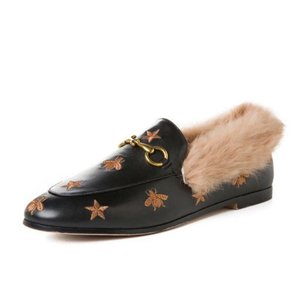 cuir noir avec des abeilles étoiles