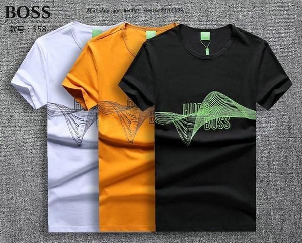 2019 été nouveau modèle mâle style manches courtes loisirs t-shirts marée vêtements de mode t-shirts pour hommes marques tshirts