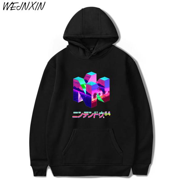 2018 New Fashion Classic Gamer N64 Druck Pullover Sweatshirt Kostüm Hoodies Harajuku Plus Größe Hoodie Hip Hop StreetwearMX190830