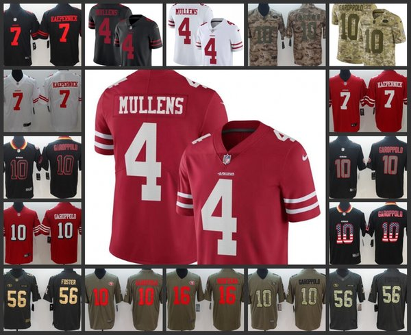 new arrival a4cc5 7fbb7 San Francisco Mens 49ers Jersey #4 Nick Mullens 10 Jimmy Garoppolo 16 Joe  Montana 56 Reuben Foster Women Youth Limited Football Jerseys Mens White ...