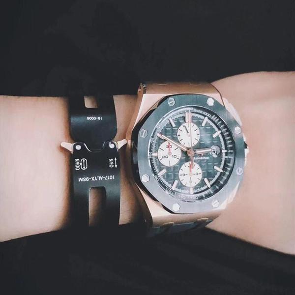 Alyx Metal Bilezik Mekanik Stil Yazı Pranga Bilezikler Erkekler Kadınlar Moda Aksesuar Çift Kelepçeler Günlük Sade KHLSH001