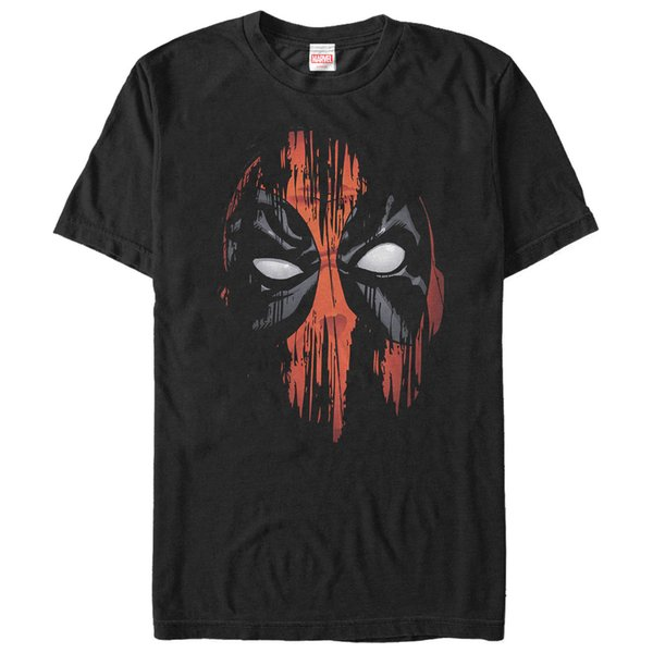 Marvel Deadpool Streak Mask Mens Graphic T Shirt Black Tee M 234XL XXL F176 Cool Casual pride t shirt men
