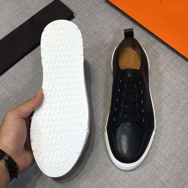 новое прибытие мода Красное дно мужчины Повседневная обувь Роскошные дизайнерские кроссовки обувь высокое качество натуральной кожи