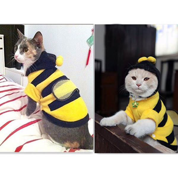 ae7f72872 1Pcs Pet Clothes Cute Bees Dog Cat Clothes Soft Fleece Teddy Poodle Dog  Clothing Pet Product Supplies Accessories