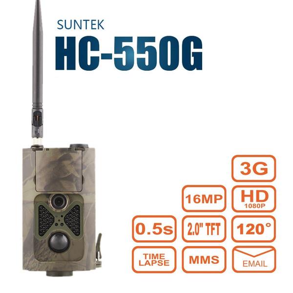 16MP 1080P Jagd Trail Kamera 3G MMS / SMTP / SMS Weitwinkel Wildlife Kamera Nachtsicht Suntek HC550G