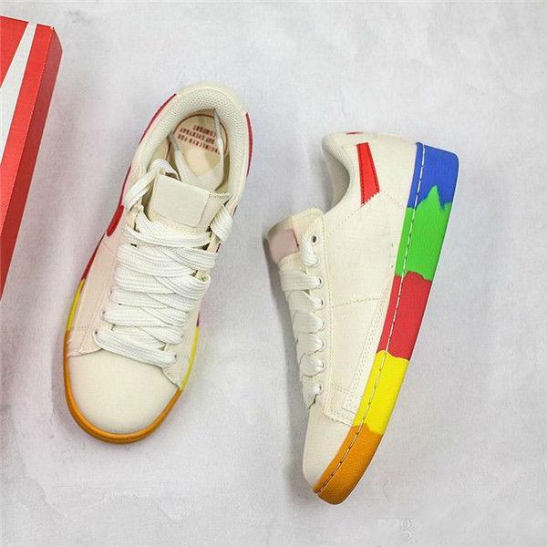 2019 Atacado SB Blazer Bruin Baixo QS Sapatos de Lona Rainbow Designer Preto Verde Vermelho Multi Homens Mulheres Casuais Tênis Esportivos