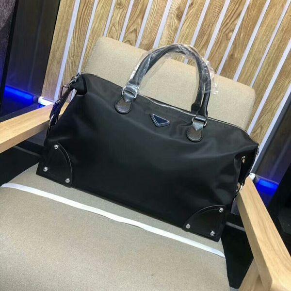 2019 европейский стиль высокое качество холст мужская сумка большой емкости путешествия сумки хобо мода мужская сумка