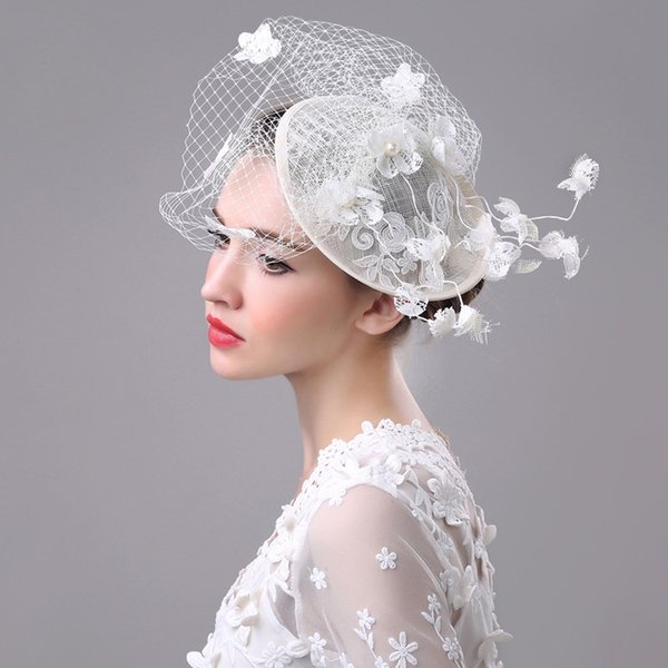 Lace wedding dress party hat