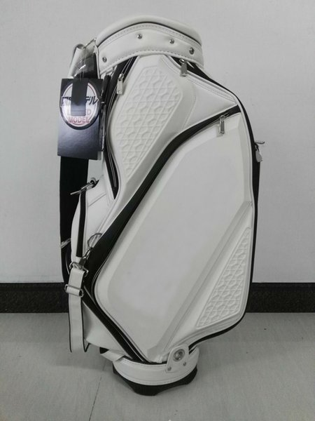 "top popular golf staff bag new style Ti CB810 PU Golf tour Bags 9"" in white OEM available 2019"