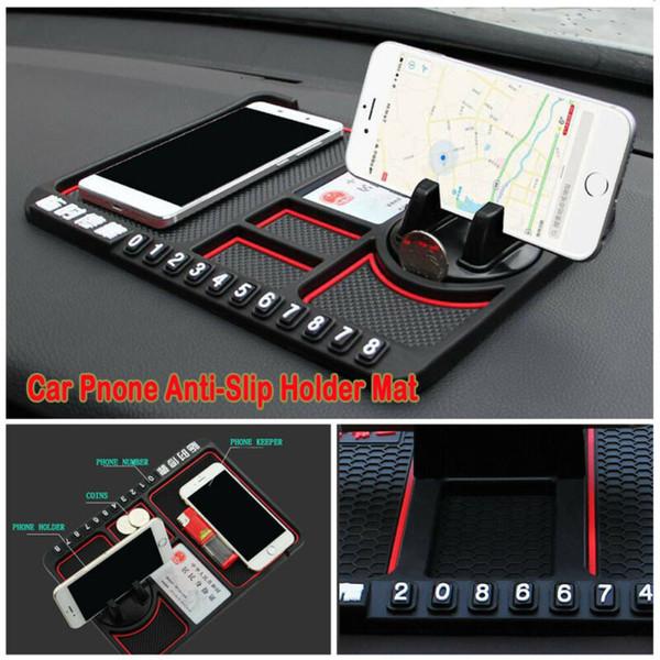 다기능 자동차 대시 보드 미끄럼 방지 매트 미끄럼 매직 스티커 패드 GPS 휴대 전화 홀더 저장 매트