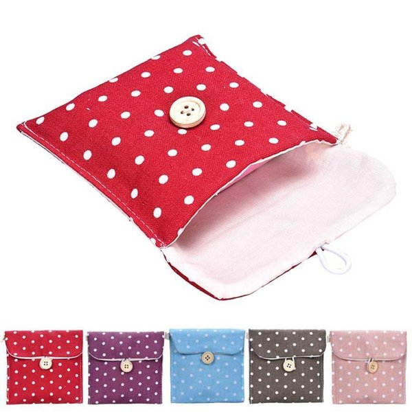 Girl Sanitary Napkin Bag Brief Cotton Sanitary Storage Bag Travel Bags Woman Towel Holder Pouch Cosmetic Bags & Cases