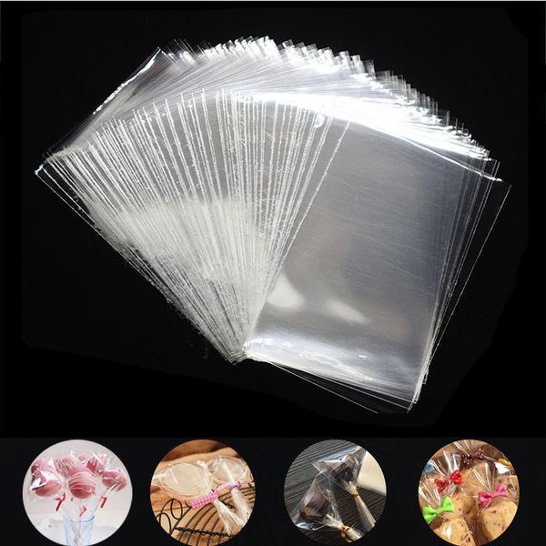 100Pcs transparente Plastiktaschen für Candy Lollipop Plätzchen Verpackung Cellophantüte Weihnachten Hochzeit Geburtstags-Party-Geschenk-Tasche