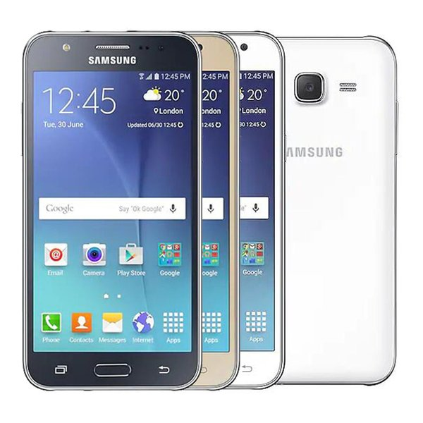 Refurbished Original Samsung Galaxy J5 J500F Single SIM 5.0 inch LED Screen Quad Core 1.5GB RAM 8GB ROM 13MP 4G LTE Unlock Phone DHL 1pcs