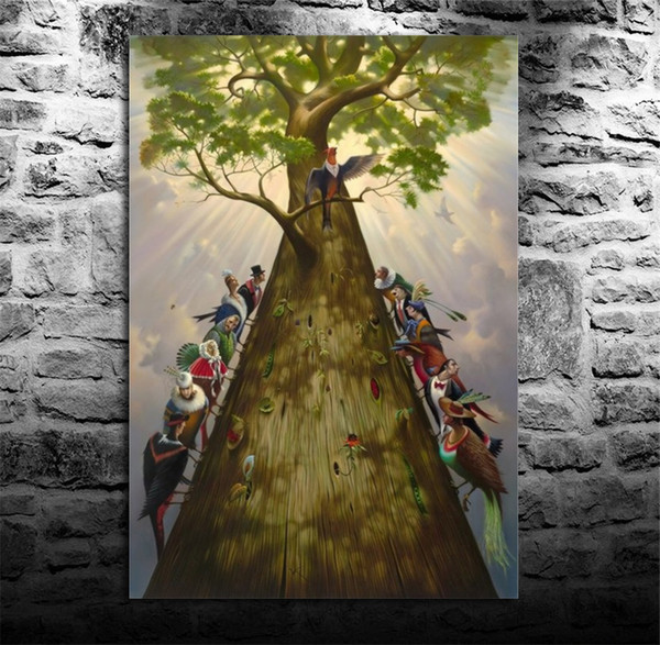 Tree of Life,1 Pieces Canvas Prints Wall Art Oil Painting Home Decor (Unframed/Framed) 8X12.