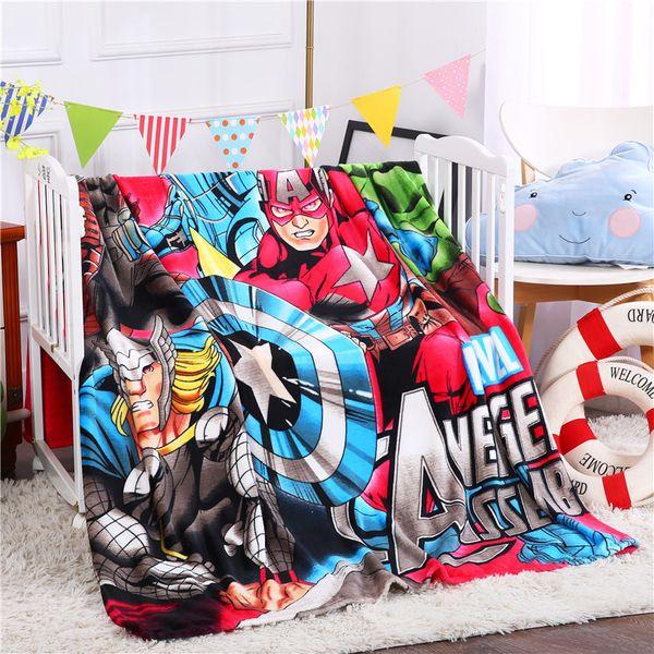 Cartoon Flannel Children Throw Sheet Blanket High Quality Super Soft Flannel Sofa Bed Car Blanket