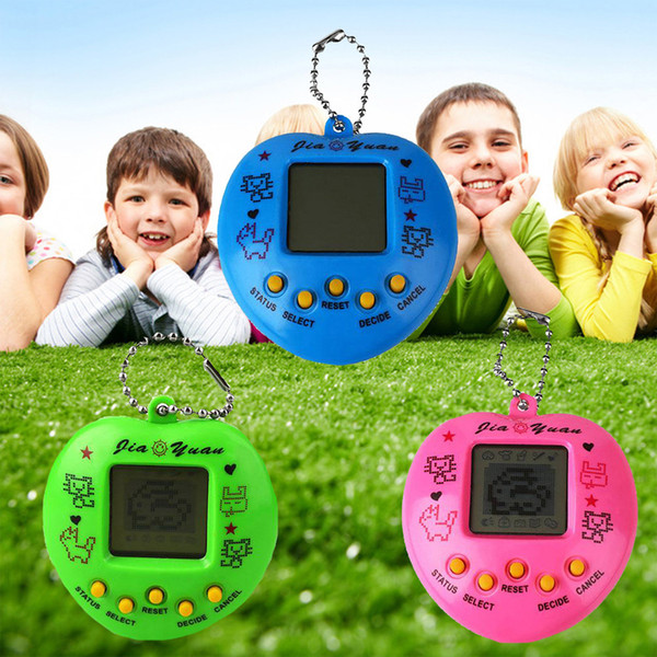 Electronic Pets Toys 90S Style Nostalgic 168 Pets Animals in One Virtual Cyber Pet Toy Funny Heart-type Classic Video Game 2pcs/set