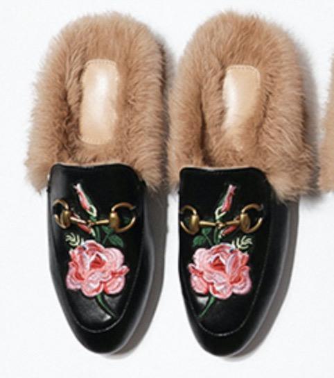 Black leather / flowers