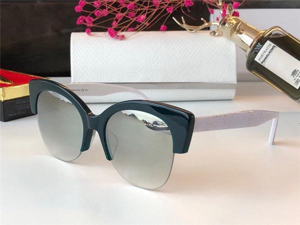 Nouveau Designer Lunettes de soleil de mode Papillon Oeil de chat Cadre Lunettes Flash Beads Lunettes Jambes Conception UV400 Protection Venez avec étui